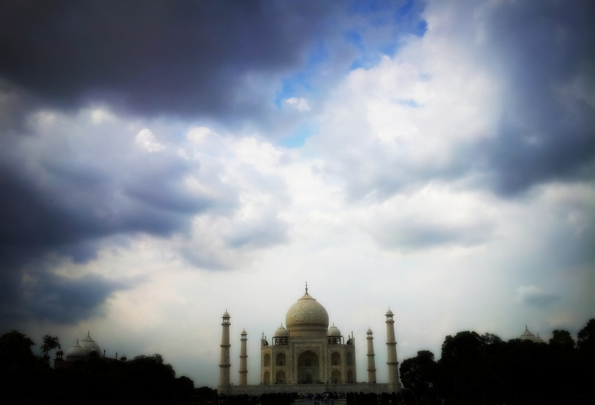 Taj Mahal and beautiful clouds